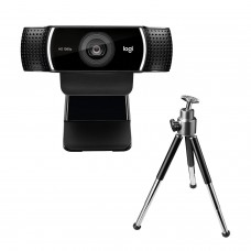 Logitech C922 Pro Stream Webcam, HD 1080p/30fps or HD 720p/60fps Hyperfast Streaming, Stereo Audio, HD Light Correction, Autofocus, for YouTube, Twitch,...